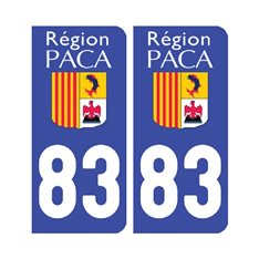 Sticker plaque Var 83 - Pack de 2