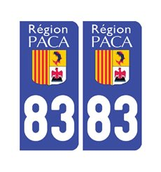 Sticker plaque Var 83 - Pack de 2