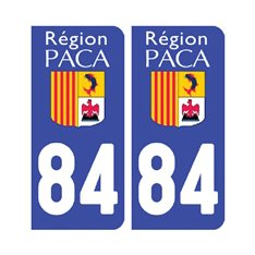 Sticker plaque Vaucluse 84 - Pack de 2