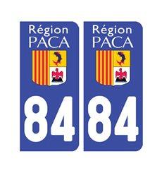 Sticker plaque Vaucluse 84 - Pack de 2
