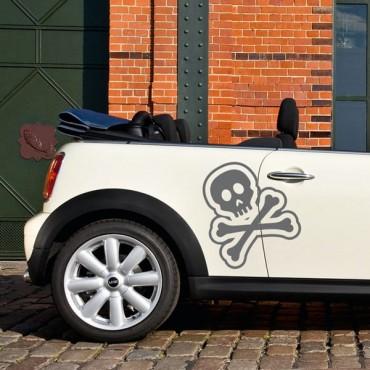 Sticker Tête de mort design - stickers tête de mort & stickers auto - stickmycar.fr