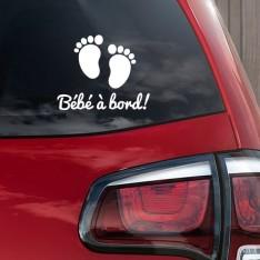 Sticker Bébé à bord pieds