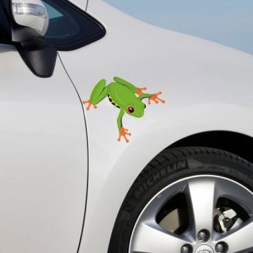 Sticker Grenouille verte - stickers animaux & autocollant voiture - stickmycar.fr
