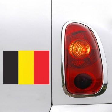 Sticker Drapeau Belgique - stickers drapeaux & autocollant voiture - stickmycar.fr