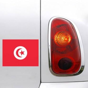 Sticker Sticker drapeau Tunisie - stickers drapeaux & stickers auto - stickmycar.fr