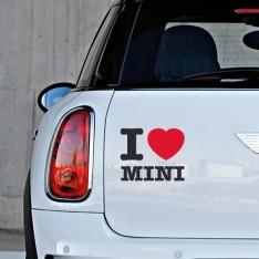 Sticker I love Mini