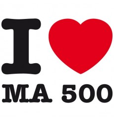 Sticker I love ma 500