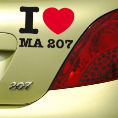 Sticker I love ma 207