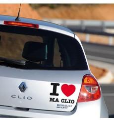 Sticker I love ma clio