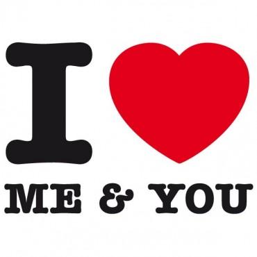 Sticker I love me and you - stickers i love & stickers auto - stickmycar.fr