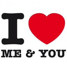 Sticker I love me and you