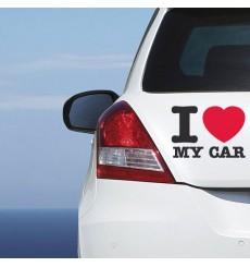 Sticker I love my car