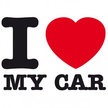 Sticker I love my car - stickers i love & autocollant voiture - stickmycar.fr