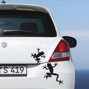 Sticker Grenouilles - stickers animaux & autocollant voiture - stickmycar.fr