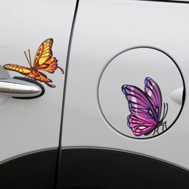 Sticker Papillons colorés - stickers animaux & stickers auto - stickmycar.fr
