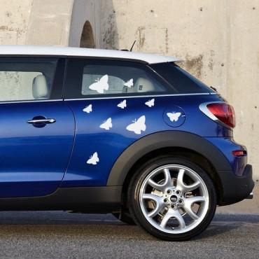 Sticker Papillons design - stickers animaux & autocollant voiture - stickmycar.fr