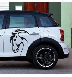 Sticker Tête de cheval