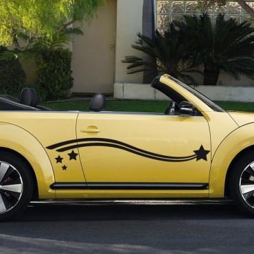 Sticker Etoile filante design - stickers étoiles & autocollant voiture - stickmycar.fr