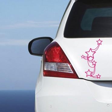 Sticker Etoiles attachées - stickers étoiles & stickers auto - stickmycar.fr