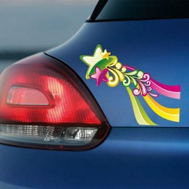 Sticker Etoiles colorées - stickers étoiles & autocollant voiture - stickmycar.fr
