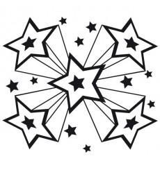 Sticker Etoiles disco