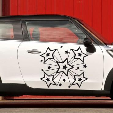 Sticker Etoiles disco - stickers étoiles & stickers auto - stickmycar.fr