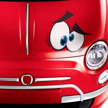 Sticker Yeux cartoon 3 - stickers yeux & autocollant voiture - stickmycar.fr