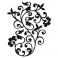 Sticker Arabesque fleurs - stickers design & autocollant voiture - stickmycar.fr