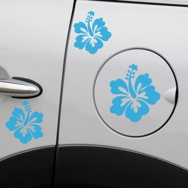 Sticker Fleurs hibiscus - stickers fleurs & autocollant voiture - stickmycar.fr