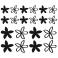 Sticker Fleurs modernes - stickers fleurs & stickers auto - stickmycar.fr