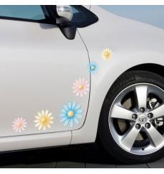 Sticker Fleurs multicolores