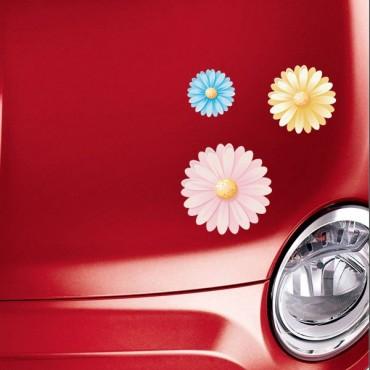 Sticker Fleurs multicolores 2 - stickers fleurs & stickers auto - stickmycar.fr