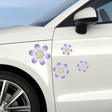 Sticker Fleurs violettes - stickers fleurs & stickers auto - stickmycar.fr