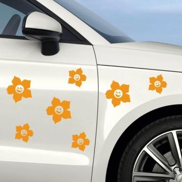 Sticker Fleurs vivantes - stickers fleurs & autocollant voiture - stickmycar.fr