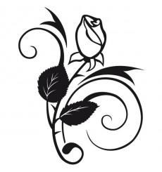 Sticker Rose design