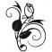 Sticker Rose design - stickers fleurs & autocollant voiture - stickmycar.fr