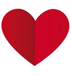 Sticker Coeur aspect plié