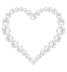 Sticker Coeur diamants