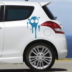 Sticker Tâche bleu foncé
