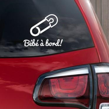 Sticker Bébé à bord épingle - stickers bébé à bord & autocollant voiture - stickmycar.fr