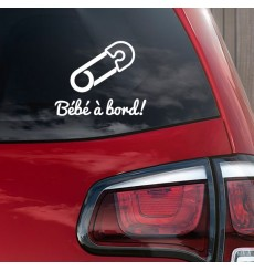 Sticker Bébé à bord épingle