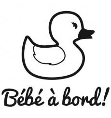 Sticker Bébé à bord canard
