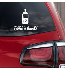 Sticker Bébé à bord biberon