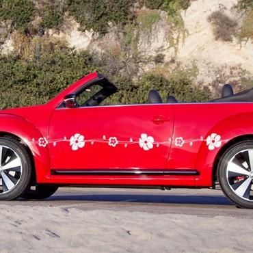 Sticker Frise fleurs - stickers frise & autocollant voiture - stickmycar.fr