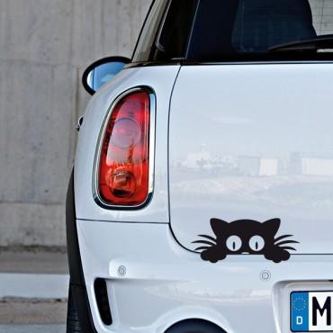 Sticker Chat caché - stickers animaux & autocollant voiture - stickmycar.fr