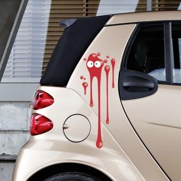 Sticker Tâche rouge - stickers tâches & stickers auto - stickmycar.fr