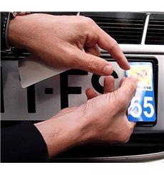 Sticker plaque Haute-Corse 2B - Pack de 2