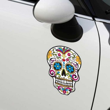 Sticker Crane mexicain - stickers tête de mort & stickers auto - stickmycar.fr