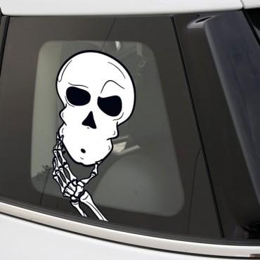 Sticker Crane pensif - stickers tête de mort & autocollant voiture - stickmycar.fr