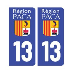 plaque Bouches-du-Rhône 13 - Pack de 2